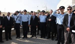 """ביתר: המפכ""""ל וראש העיר חנכו תחנת משטרה"""