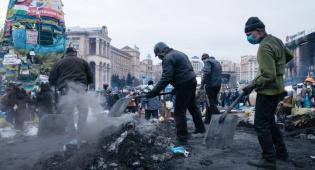 ההרס שהותירו ההפגנות הרבות - הפיכה באוקראינה: הנשיא הודח וברח