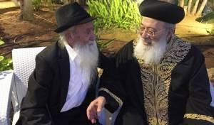 """הגר""""ד עמאר זצ""""ל עם אחיו הראשל""""צ הגר""""ש עמאר"""