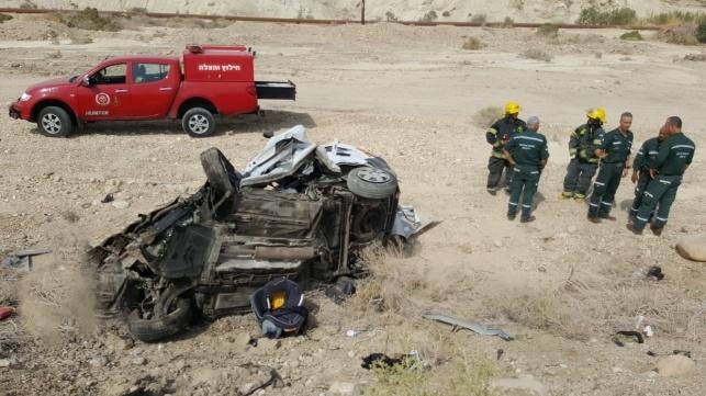 תאונה: תאונה בשיירה של הרב ברלנד: 5 פצועים