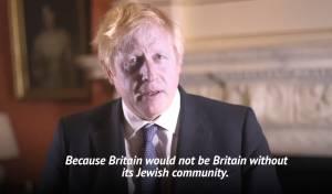 """בוריס ג'ונסון: """"בלי היהודים אין את בריטניה"""""""