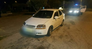הרכב הגנוב - הרכב נעצר לבדיקה והגנב הפלסטיני נלכד