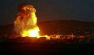 שמי סוריה בעת התקיפה אמש