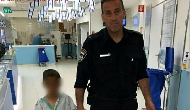 השוטר והילד הפלסטיני