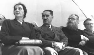 """השר יצחק מאיר לוין יו""""ר אגודת ישראל, לצד צמרת המדינה"""