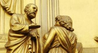 פגישת יעקב ועשיו. תחריט מפירנצה איטליה