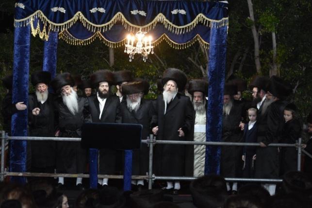 שמחת החתונה בחצרות דז'יקוב - לעלוב - נדבורנה חיפה - סקולען