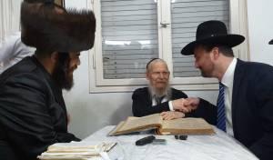 הביקור בבתי הרבנים, הערב