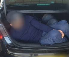 2 פלסטינים נתפסו בתוך תא המטען • צפו