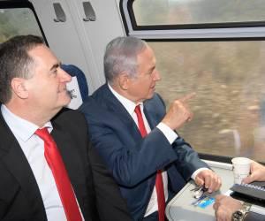 נתניהו וכץ חנכו את הרכבת החדשה מירושלים