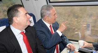 נתניהו וכץ חנכו את הרכבת החדשה מי-ם