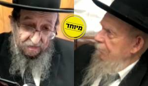 הרב גרשון אדלשטיין לצד הרב שמואל קמינצקי