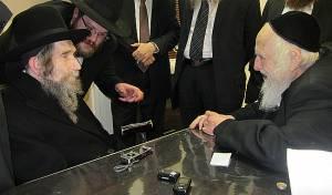 """מרן הרב שטיינמן זצ""""ל בביקור אצל הגר""""ש זצ""""ל"""