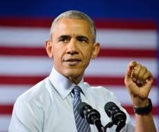 אובמה נאם לראשונה מאז סיים את תפקידו