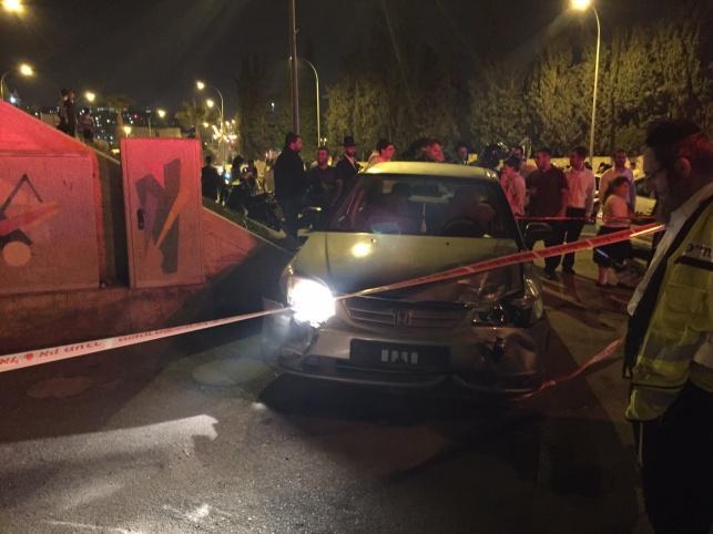זירת התאונה בירושלים, הערב
