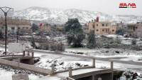 תמונות מסוריה: שלג כיסה את 'הר הדרוזים'