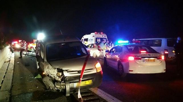 זירת התאונה בכביש 6, השבוע