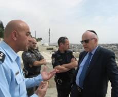 """מנחם לובינסקי, יו""""ר הוועד, בביקור בישראל. - הוועד להגנת הר הזיתים: חילול הקברים - אנטישמיות"""