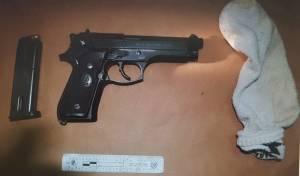 שדד קיוסק והחביא את אקדחו בתוך רמקול