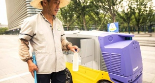 חם? בסין הרובוטים דואגים לעובדים בחוץ