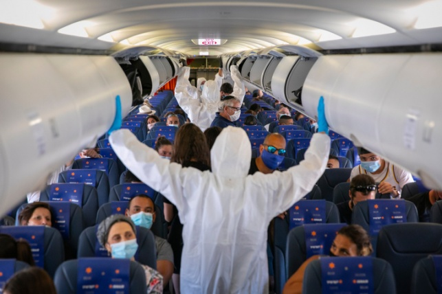 אילוסטרציה. מטוס בקורונה
