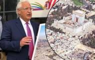 """השגריר והתמונה - יועצו של אבו מאזן נגד דיוויד פרידמן: """"מסר גזעני ומסית"""""""