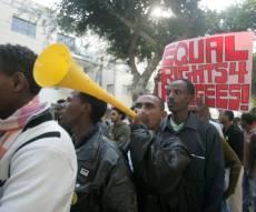 הפגנה של אפריקנים בישראל - מסתננים יגורשו מישראל לאפריקה - בכפייה
