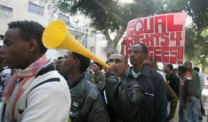 הפגנה של אפריקנים בישראל
