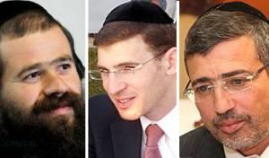 מימין: אבידן, בלום והירשמן (צילומים: כיכר השבת, ברלה שיינר)