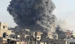 פיצוץ אדיר: הפגזת המבנה בעזה - וקריסתו