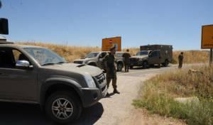זירת הפיצוץ בגבול סוריה