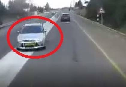 צפו בבום: כשהרכב הפרטי התנגש במשאית