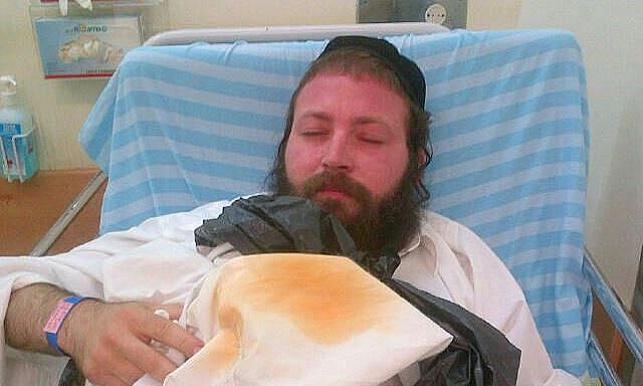 יוסי קלצקין לאחר שהותקף
