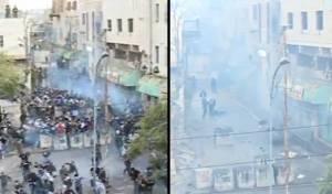 עשרות רימוני הלם והמפגינים הערבים נעלמו