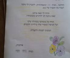 המכתב המרגש מנשות היישוב המאמץ