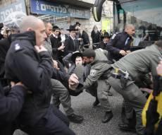 """מפגינים בירושלים - 31 עצורים בהפגנות 'הפלג' בירושלים וב""""ש"""