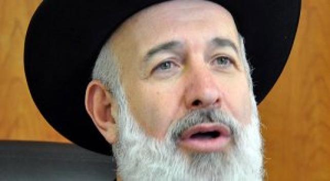 הרב יונה מצגר (צילום: דובי קורן)