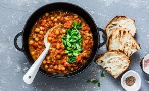 תבשיל חומוס ופטריות