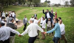 חתונה באוויר הפתוח בגוש עציון אתמול