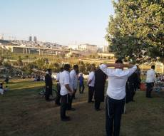 תפילת מנחה בפארק ענבה