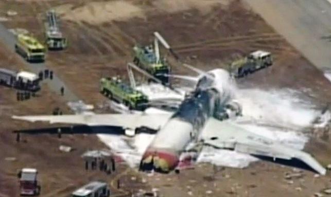 המטוס לאחר ההתרסקות