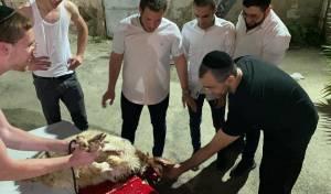 הצעירים שחטו כבש לזכרו של הרב הבוכרי