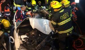 תיעוד: תאונה קשה בכביש המנהרות