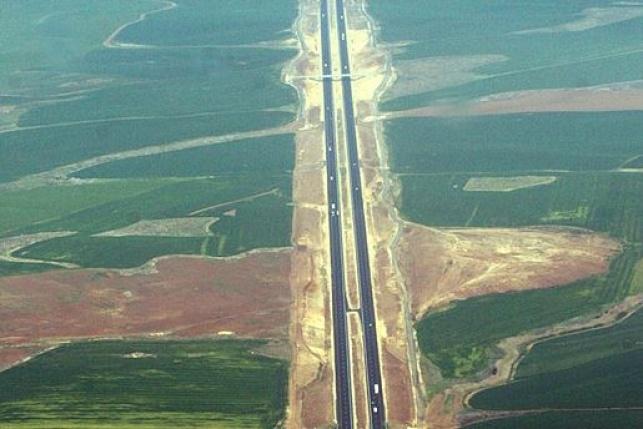 כביש 6 חוצה ישראל במבט מהאוויר