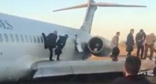 מטוס נחת על כביש באירן, כולם יצאו בשלום