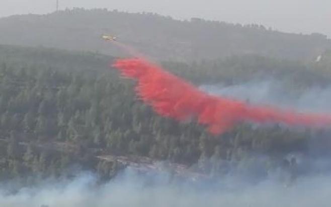 צפו בווידאו: השריפה ליד נווה אילן ומאמצי הכיבוי