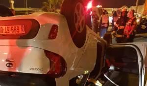 בן 30 התהפך עם רכבו ונפצע באורח בינוני