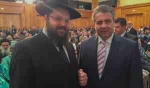 שר החוץ הגרמני עם הרב טייכטל