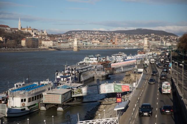נהר הדנובה בעיר בודפשט שבהונגריה