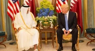 """האמיר נפגש עם טראמפ בביקורו בסעודיה - אמיר קטאר: """"היחסים עם ישראל טובים"""""""